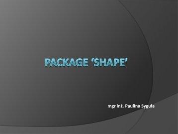 Package 'shape'