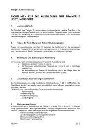 Richtlinien für die Ausbildung zum Trainer B Leistungssport