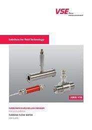 Solutions for Fluid Technology SERIE VTR