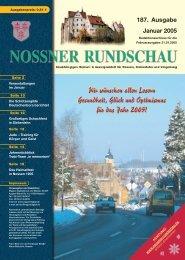 187. Ausgabe Januar 2005 - Nossner Rundschau