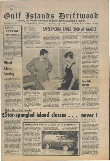 Star-spangled island classes ... never i - Salt Spring Island Archives