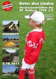 """Vereinsnachrichten """"Unter den Linden"""" 2011 Seite 1 - SV Haldern"""
