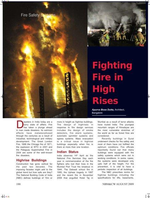 Fire Fighting In High Rises Pdf Apurva Bose Dutta