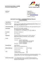 U20 weiblich - Deutscher Volleyball-Verband