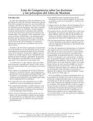 Lista de Competencia sobre las doctrinas y los principios del Libro ...