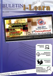 Knowledge Sharing @ a Click - i-Learn Portal – UiTM e-Learning ...