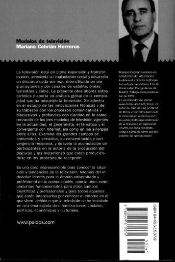 Modelos de televisión Mariano Cebrián Herreros