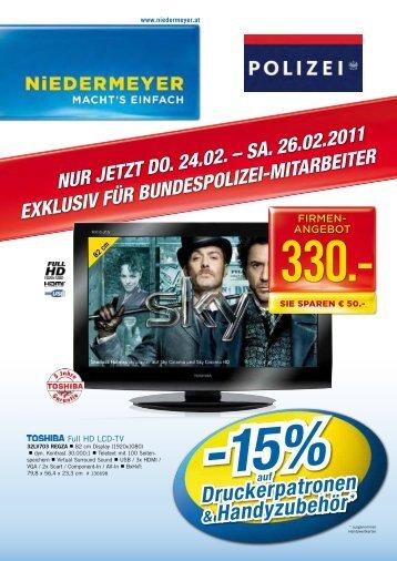 15%auf Druckerpatronen & Handyzubehör - FSG Polizei NÖ