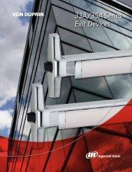 Von Duprin 33A Series Catalog - Locksmith Security Association of ...