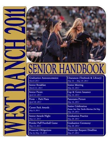 Senior Activities Handbook 2011.pub - West Ranch High School