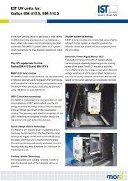 IST UV units for: Gallus EM 410 S, EM 510 S - IST METZ
