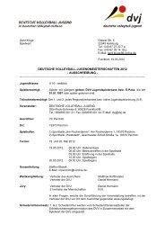 U16 weiblich - Deutscher Volleyball-Verband