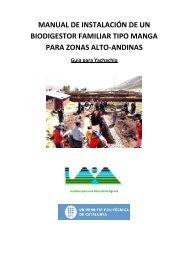 manual de instalación de un biodigestor familiar tipo ... - CEDECAP