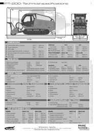 PT- 200: Technical specifications - Prime-Tech