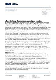Pressemeddelelse Hjælp til selvhjælp i seniorlivet - Struer kommune