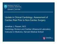 Assessment of Cardiac Risk Prior to Non-Cardiac Surgery
