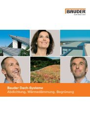 Bauder Dach-Systeme Abdichtung, Wärmedämmung, Begrünung
