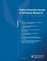 DeVry_University_Journal of Scholarly Research_2014_Vol1_No2