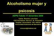Psicosis por alcohol. Diferencias de genero - Asociación Española ...