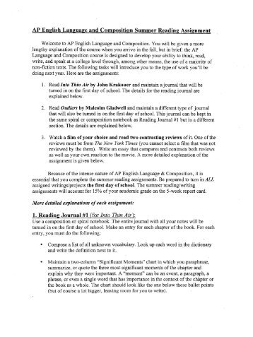 Ap English Language And Composition Sample Argumentative Essays