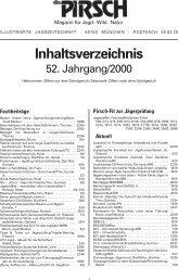 illustrierte jagdzeitschrift · 80703 münchen · postfach 40 03 20