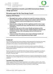 CEC discussion paper - UNFCCC negotiations - International ...