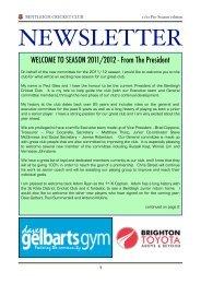 Pre-Season - Bentleigh Cricket Club