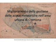 Miglioramento della gestione delle acque meteoriche nell'area ...