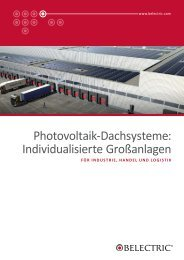 Photovoltaik-Dachsysteme: Individualisierte ... - Belectric.com