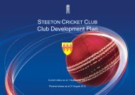 Structure for 2011/12 - Steeton Cricket Club