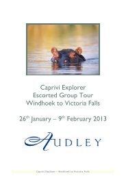 Caprivi Explorer Escorted Group Tour Windhoek to ... - Audley Travel