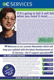 Summer 2003 - CE Services