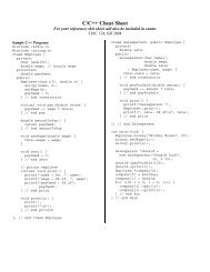 C/C++ Cheat Sheet