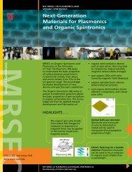 Next-Generation Materials for Plasmonics and Organic Spintronics
