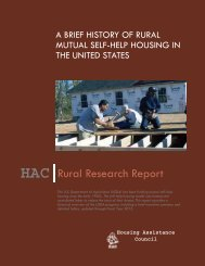 A Brief History of Rural Mutual Self-Help - Housing Assistance Council