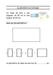 Le périmètre du rectangle