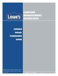 CANADA VISUAL STANDARDS GUIDE - LowesLink