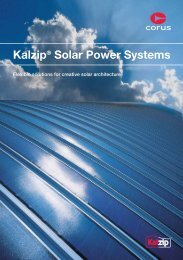 Maximum performance with Kalzip® Solar Power Systems