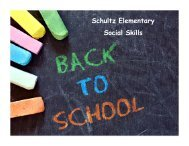 Schultz Elementary Social Skills