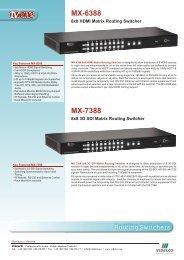 Routing Switchers MX-6388 MX-7388 - VIDELCO
