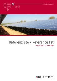 Photovoltaic Systems: Project References - Belectric.com