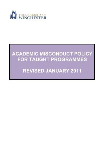 College Regulations - University of Winchester