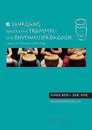 AusbildungsplAn mÄRz 2010 – dez. 2012 - Trommel-Rhythmus.at
