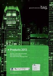 Catalogue 2013 - BAG electronics