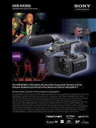 HXR-NX30U - Sony