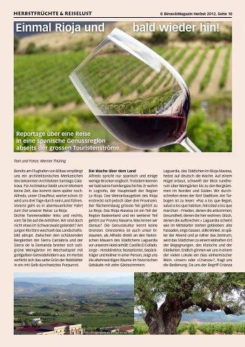 Einmal Rioja und bald wieder hin! - Birseck Magazin