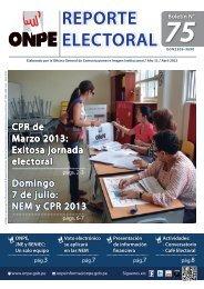 REPORTE ELECTORAL REPORTE ELECTORAL - ONPE
