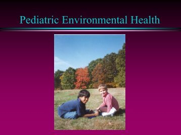 pediatric environmental health history - Southwest Center for ...