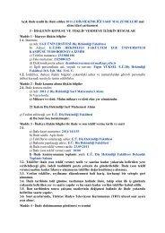 Açık ihale usulü ile ihale edilen 2011-2 DİŞ HEKİMLİĞİ SARF ...