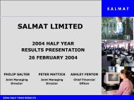 2004 Half Year Results Presentation - Salmat
